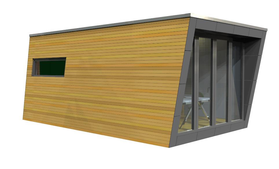 Micro house Degree Seite Fensterfront
