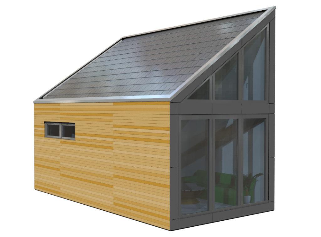 Minihaus Triptee Trespa-Holz-Mix